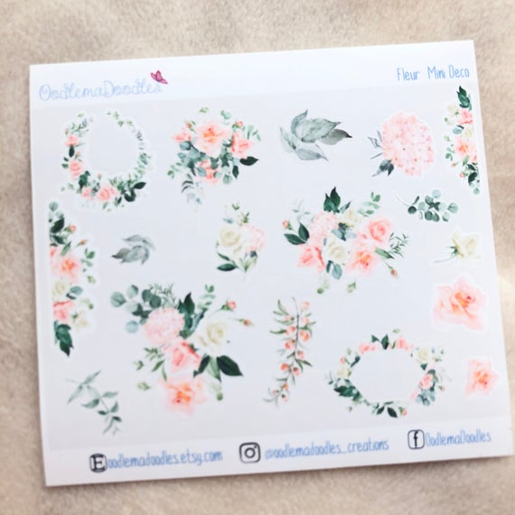 Fleur Mini Decorative Stickers