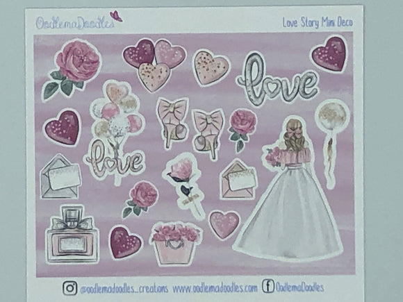 Love Story - Decorative Stickers