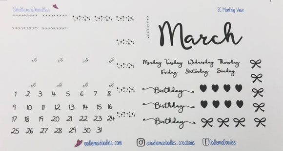 April Monthly Kit Overlay Stickers