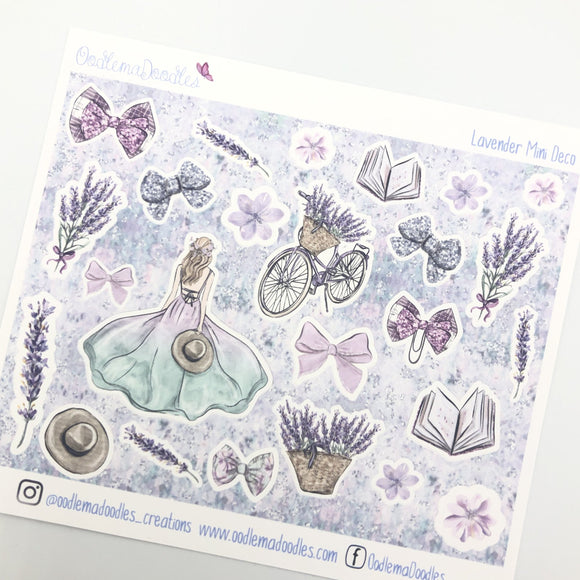Lavender Mini Decorative Stickers