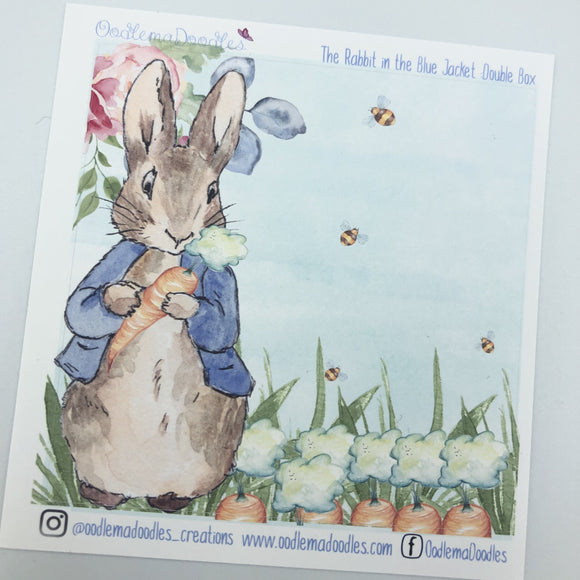 The Rabbit in the Blue Jacket Decorative Double Box Sticker