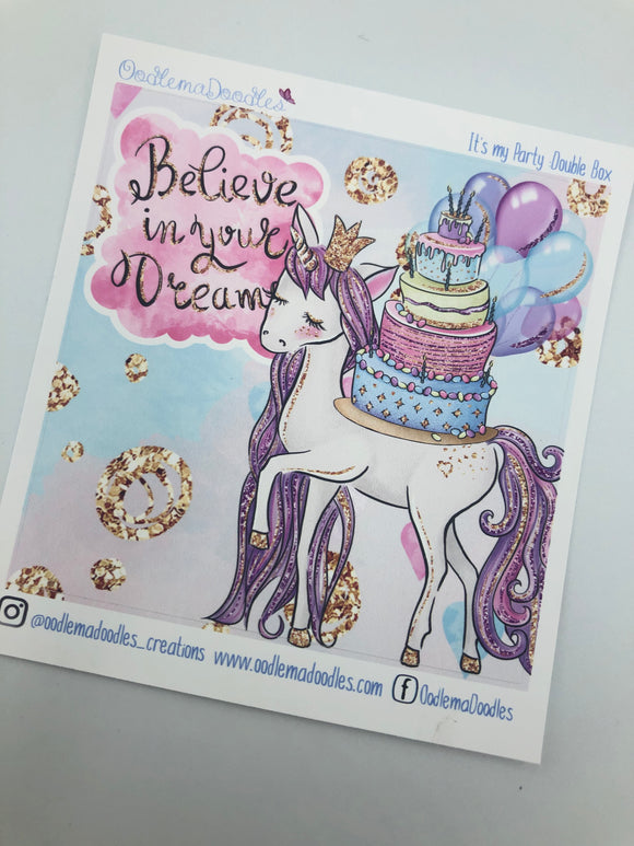 It's my Party - Decorative Double Box Sticket