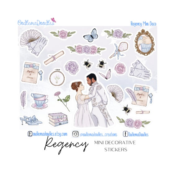 Regency Mini Decorative Stickers