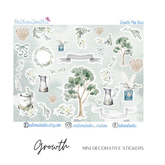 Growth Mini Decorative Stickers