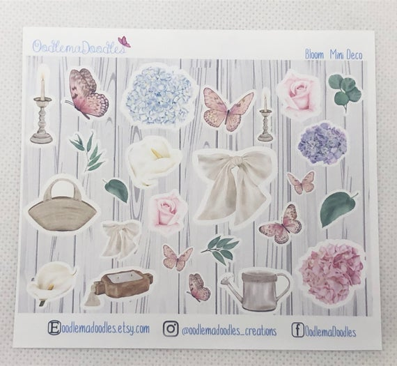Farmhouse Bloom - Decorative Stickers