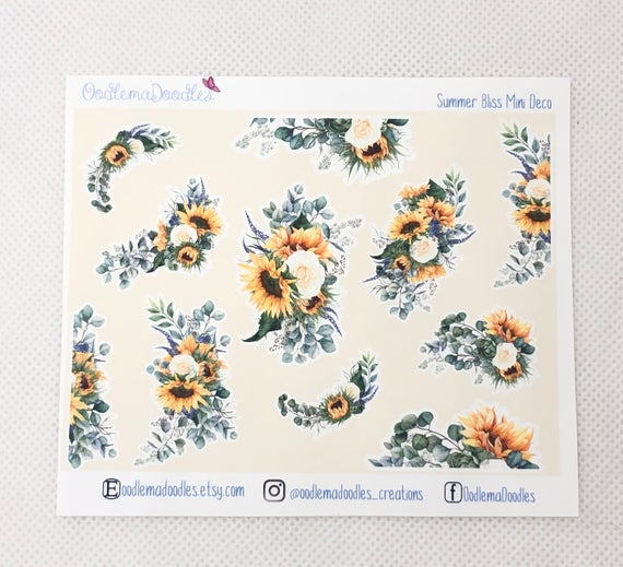 Sunny Bliss - Decorative Stickers