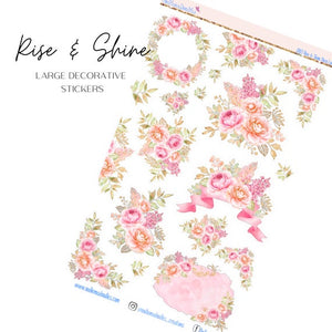 Rise & Shine Large Decorative Planner Stickers