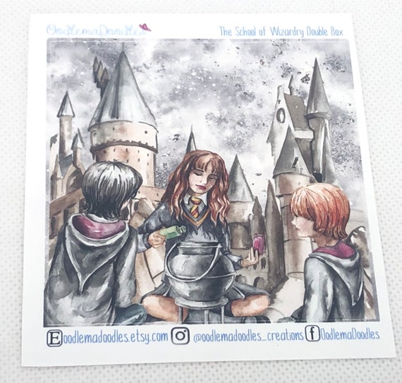 The School of Wizardry - Decorative Double Box Sticket
