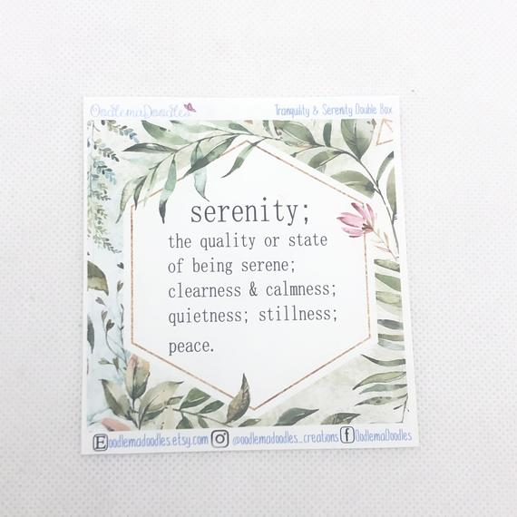 Tranquility & Serenity - Decorative Double Box Sticket