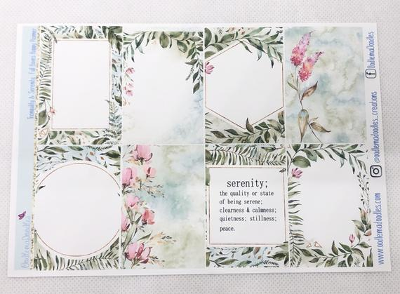 Tranquility & Serenity - Happy Planner Classic