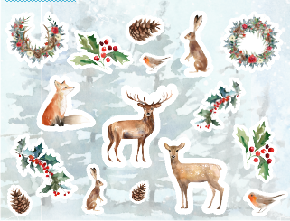 Winter Forest Decorative Stickers