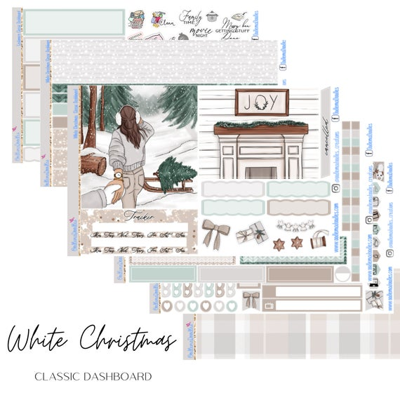 White Christmas HP Classic Dashboard