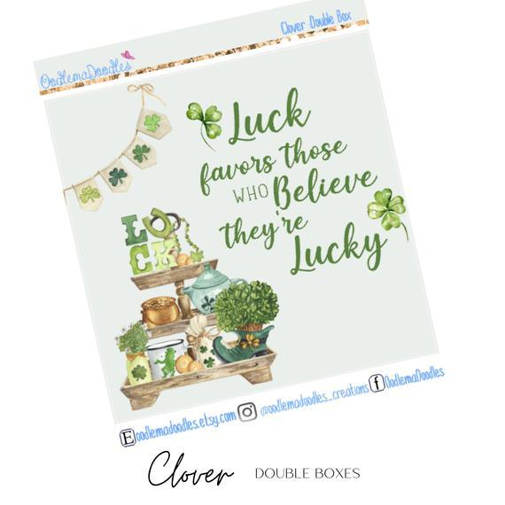 Clover Decorative Double Box Sticker