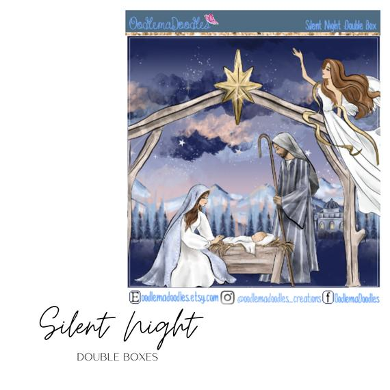 Silent Night Decorative Double Box Sticker