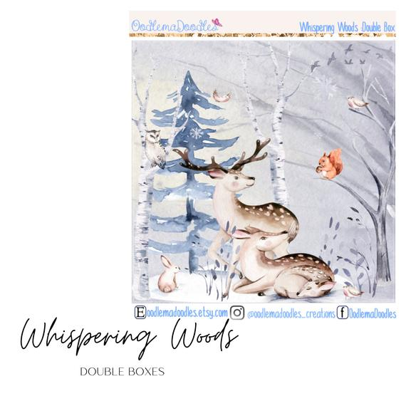 Whispering Woods Decorative Double Box Sticker
