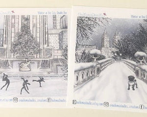 Winter in the City - Decorative Double Box Sticket