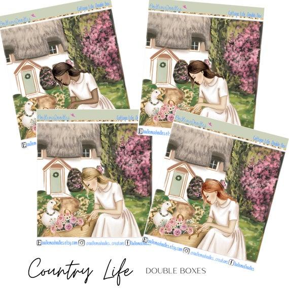 Country Life Decorative Double Box Sticker