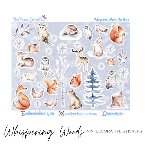 Whispering Woods Mini Decorative Stickers
