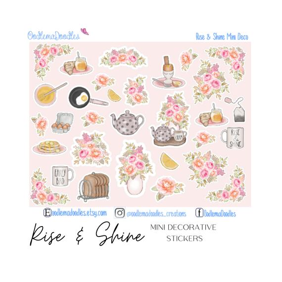 Rise & Shine Mini Decorative Stickers