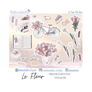 Le Fleur Mini Decorative Stickers