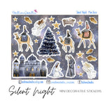 Silent Night Mini Decorative Stickers