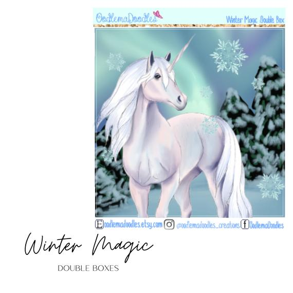 Winter Magic Decorative Double Box Sticker