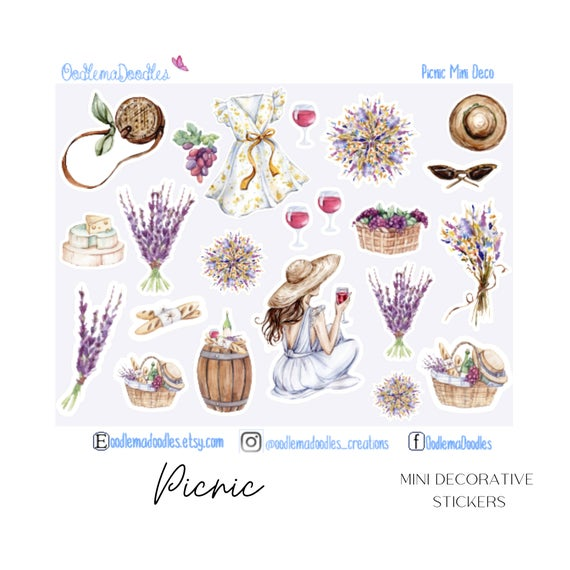 Picnic Mini Decorative Stickers