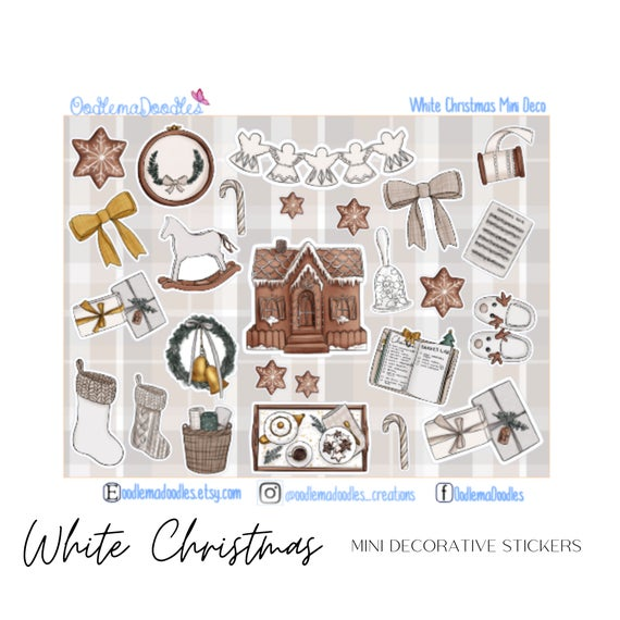 White Christmas Mini Decorative Stickers