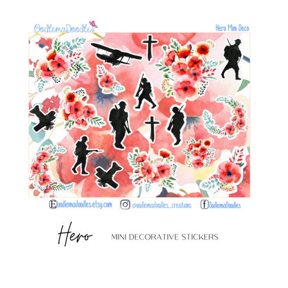 Hero Mini Decorative Stickers