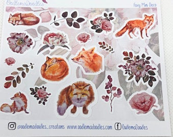 Foxy - Decorative Stickers