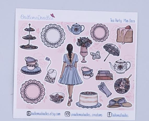 Tea Party - Decorative Stickers