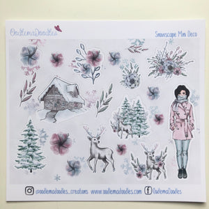 Snowscape - Decorative Stickers