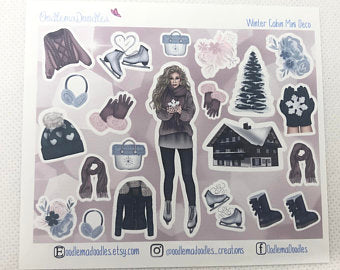 Winter Cabin - Decorative Stickers