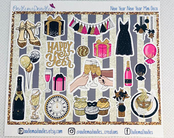 New Year New Year - Decorative Stickers