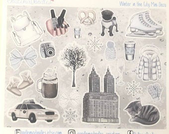Winter in the City - Decorative Stickers
