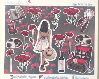 Poppy Fields - Decorative Stickers