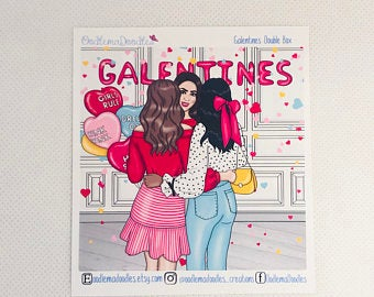 Galentine - Decorative Double Box Sticket