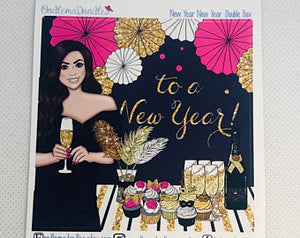 New Year New Year - Decorative Double Box Sticket