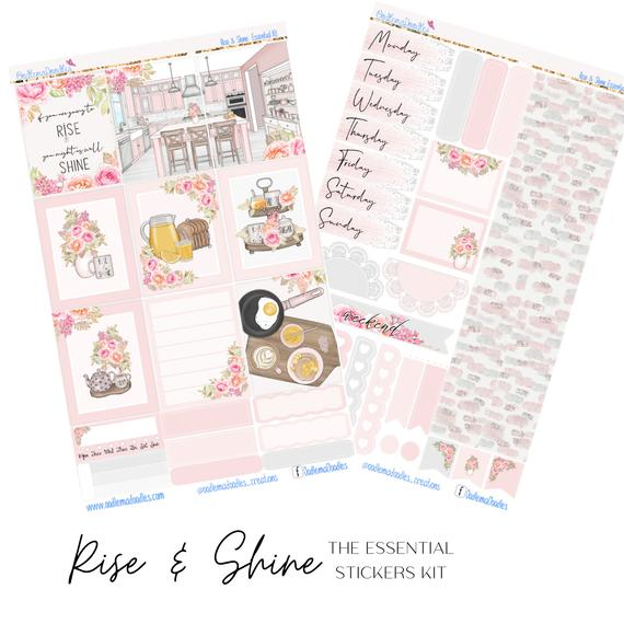 Rise & Shine Essential Planner Sticker Kit