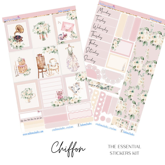 Chiffon Essential Planner Sticker Kit