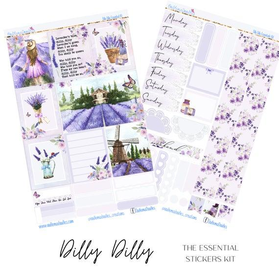 Dilly Dilly Essential Planner Sticker Kit