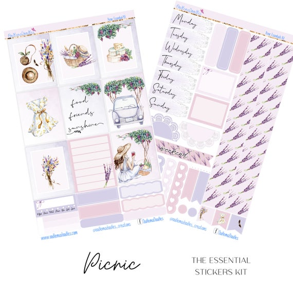 Picnic Essential Planner Sticker Kit