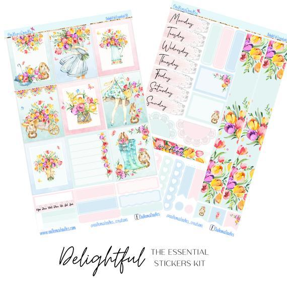 Delightful Essential Planner Sticker Kit