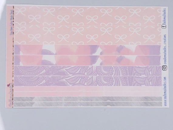 Stay Home - Extra Washi Sheet