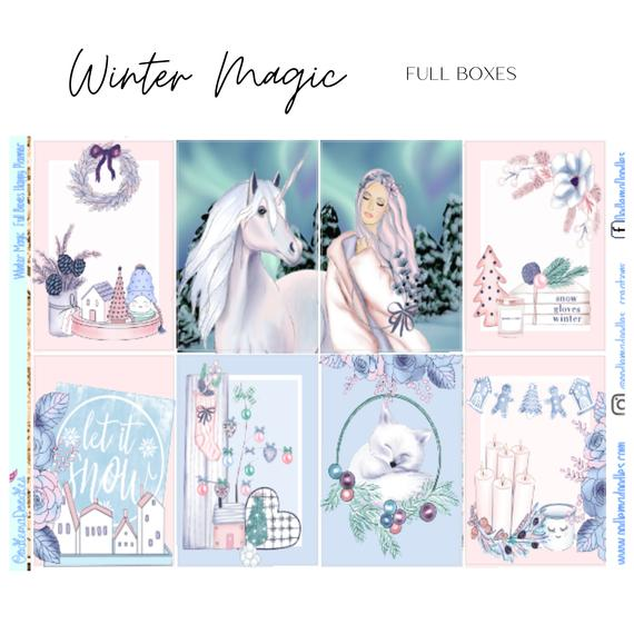Winter Magic Happy Planner Classic