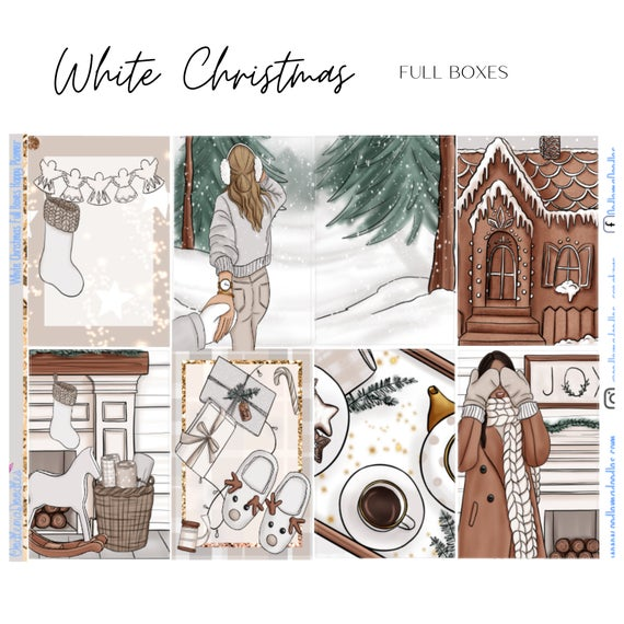 White Christmas Happy Planner Classic