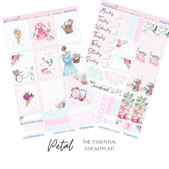 Petals Essential Planner Sticker Kit