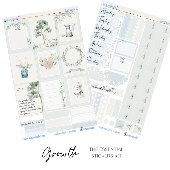 Growth Essential Planner Sticker Kit