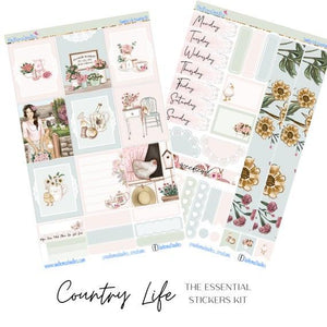 Country Life Essential Planner Sticker Kit