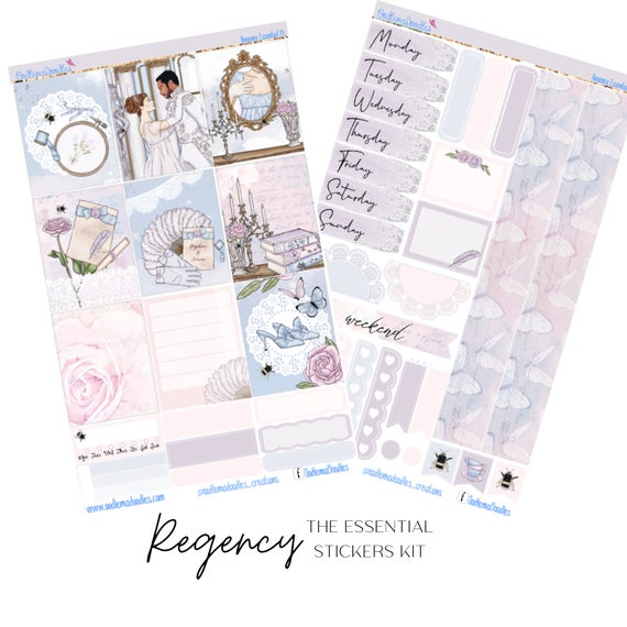 Regency Essential Planner Sticker Kit